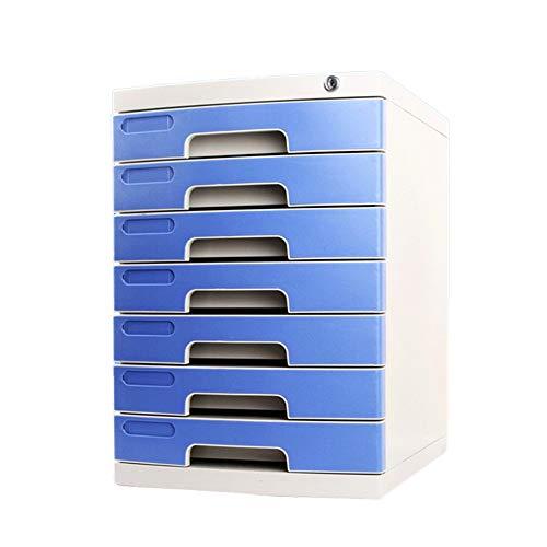 Chyuanhua Aktenschränke Cabinet Office Liefert Desktop-Storage-Management Vielseitiges Design Lagerung Bürobedarf Visitenkarte Dokumentenschrank (Color : Blue, Size : 39.4x29.5x43cm)