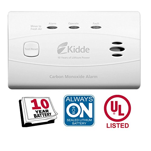 Kidde Worry-Free Carbon Monoxide Detector Alarm with 10 Year Sealed Battery | Model C3010