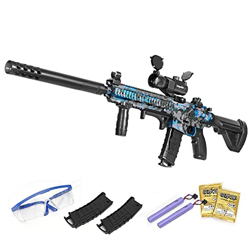 Gel Ball Blaster Toy with Goggles&15000 Water Bead, Electric Gel Gun Blaster for Outdoor Backyard...