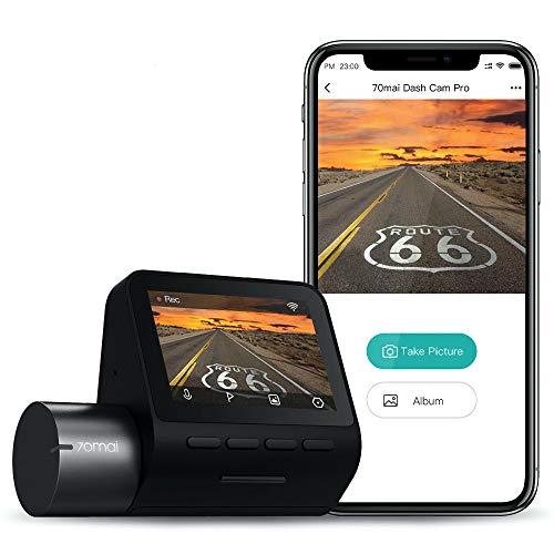 """70mai PRO Dash Cam, Câmera para Carro, 1944P, Tela de 2""""LCD WDR, Visão Noturna, Ângulo de Visão 140°, G-Sensor, Gravação em loop, Detecção de Movimento, App WiFi, Carro DVR e a marca 70MAI"""