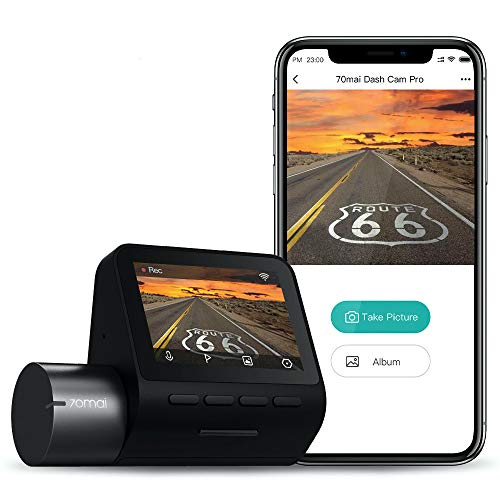 "70mai 2K Car Camera 1944p, Smart Dash Cam Pro 2.5K, Sony IMX335 2592x1944, WiFi Dash Camera for Cars, Parking Monitor, 2"" LCD Screen, Night Vision, iOS/Android Mobile App WiFi, Voice Control (2021)"