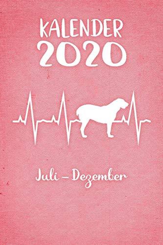 Kalender 2020: Rosa Tageskalender Alabai Herzschlag Hunde 2. Halbjahr Juli Dezember ca...