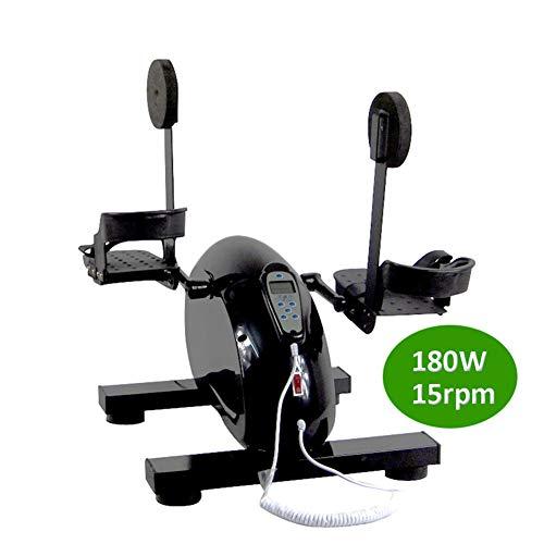 DYHQQ Elektrisches Pedal-Trainingsgerät für Senioren Tragbares Fitness-Fahrrad, für Arm- / Beinübungen Mini-Fahrradtrainer Stationäres Übungsbein Hausierer