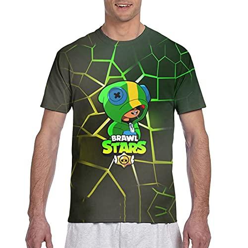 867 Qts-Hirt Br-A-Wl Funny Stars - Camiseta de manga corta con impresión completa en 3D para hombre, Negro, XXL
