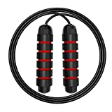 ZODAE Jump Rope Tangle-Free Ball Bearings Speed Skipping Rope Cable, Jumping Ropes with Memory Foam...