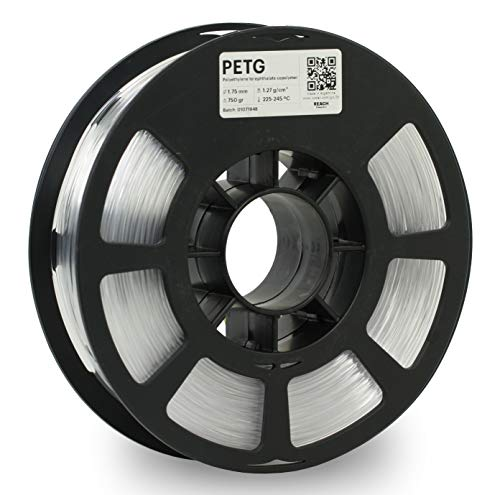 KODAK PETG Filament 1.75 mm mm für 3D- Drucker, Natur, Maßgenauigkeit +/- 0.03mm, 750g Spule, PETG Filament 1.75 als 3D-Drucker-Filament zum Nachfüllen von fast allen FDM-Druckern benutzt