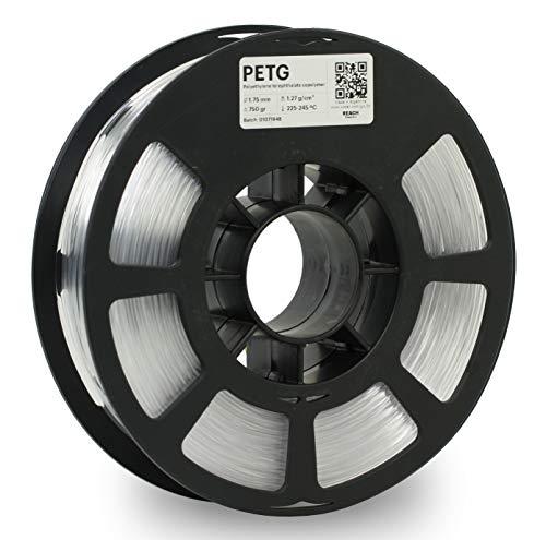 KODAK PETG Filament 1.75mm for 3D Printer, Natural PETG, Dimensional Accuracy +/- 0.02mm, 750g Spool (1.7lbs), PETG Filament 1.75 Used as 3D Filament Consumables to Refill Most FDM Printers