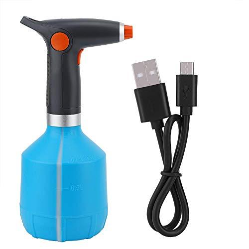 Qinlorgon Elektrische sprühflasche, USB wiederaufladbare elektrische sprühflasche bewässerung Werkzeug für Blume Pflanze(Hellblau)