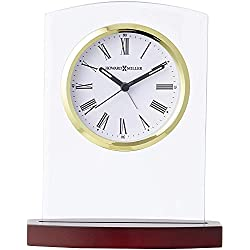 Howard Miller Marcus Table Clock 645-580 – Modern Glass with Quartz Alarm Movement