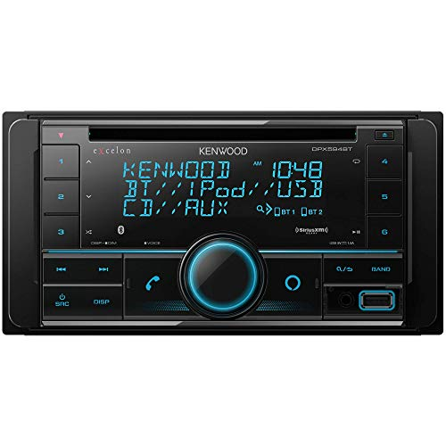 Kenwood Excelon DPX594BT Double DIN Bluetooth In-Dash Car Stereo CD Receiver with Amazon Alexa Compatibility