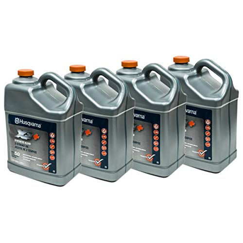 Husqvarna Case of 4 OEM XP+ 2 Stroke Engine Oil 1 Gallon Bottle 593152305