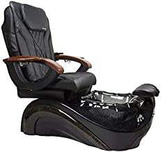 PERLA Shiatsulogic 16 EX Pedicure Chair with Lavish Black Pedicure Tub, Discharge Pump, Magna-Jet and Pipe-less whirlpool system Ideal for all Pedicure Spa