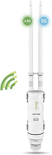 Wavlink 2.4GHz 150Mbps + 5GHz 433Mbps Outdoor WiFi Access Point High Power Wireless AC600 PoE WiFi Range Extender/Rou...
