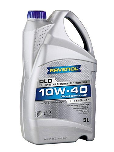 RAVENOL DLO SAE 10W-40 / 10W40 Teilsynthetisches Diesel-Motoröl (5 Liter)