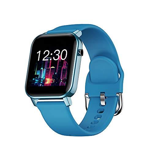 OWSOO Smartwatch, Reloj Inteligente Impermeable IP68, Rastreador de Ejercicios, Pulsómetros, Monitoreo de Sueño, Pantalla Táctil a Color de 1.4 Pulgadas, Pulsera de Actividad para Android iOS, Azul