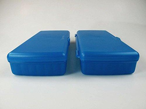 TUPPERWARE To Go Pausenbuffet türkis (2) Brotdose mit Trennung Lunch-Box Dose