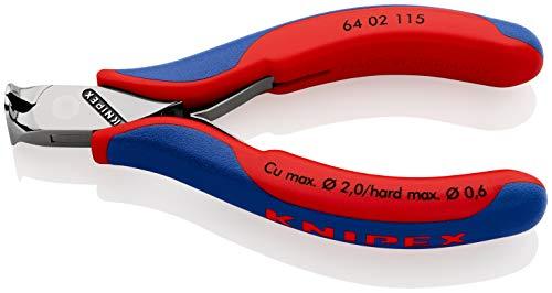 KNIPEX 64 02 115 Elektronik-Vornschneider mit Mehrkomponenten-Hüllen 115 mm
