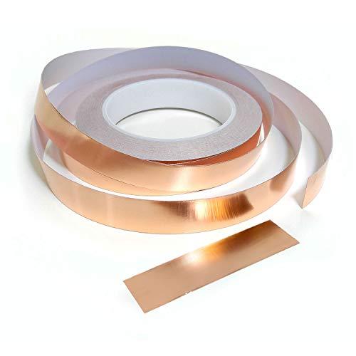 5mm 10mm 20mm x 25m Schneckenband, Kupfer: Klebstoff Kupfer Schnecke Schnecke Absperrband 20mm (W) x 25m (L)