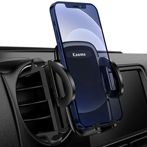 Kaome 2021 Aufgerüstet Handyhalterung für Runde lüftungen Mercedes Benz Handyhalterung Auto Lüftung Kratzschutz KFZ Handy Halterung für iPhone 12/11/xr/xs, Samsung Galaxy, Huawei, Schwarz