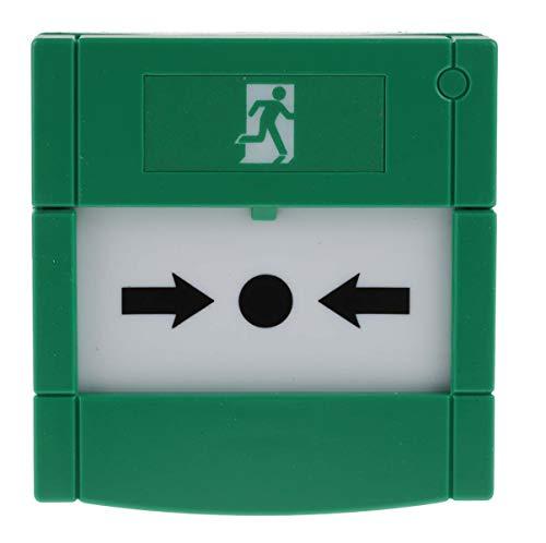 RS PRO Kunststoff Grün Handmelder für Notausgangsentriegelung, Knopf, Meldestelle für Notabschaltung, T 51 mm, B 85mm