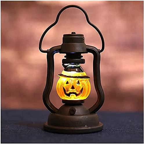 lpzsmd decoración de Terror de Halloween Luz de Noche Decoración Retro de Halloween Decoración al Aire Libre Vacaciones Ahorro de energía Barra Colgante de Escritorio 0916(Color:A)