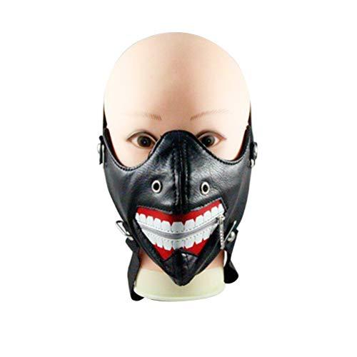BESTOYARD Halloween Cosplay Muster Zahnmasken Niet Maske Reißverschluss Frauen Männer Masken Für...