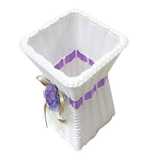 Rattan Bodenvase Blumenvase Blumentopf für Haus Hochzeit - Lila, wie beschrieben