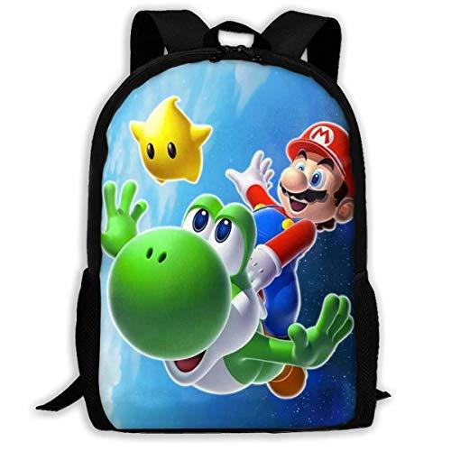 Kimi-Shop Super-Marios Dragon Mochila Escolar Personalizada para Adolescentes niños