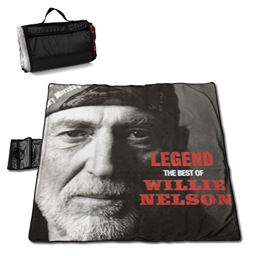 New ElizabethMEiland Willie Nelson Stylish Waterproof Printed Beach Blanket, Portable Outdoor Picnic...