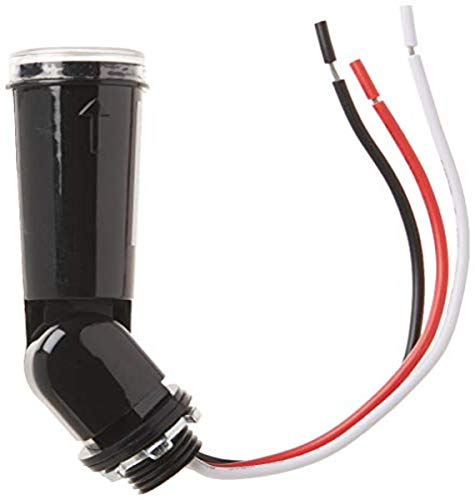 Woods 59413 59413WD Outdoor Conduit Lighting Control With Photocell and Swivel Mount (Hardwired, Black)
