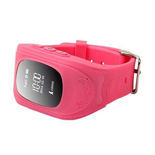 Q50 Bambini GPS Orologi Smartwatch Supporto GPS/GPRS/Bluetooth Locator Tracker - Rosa