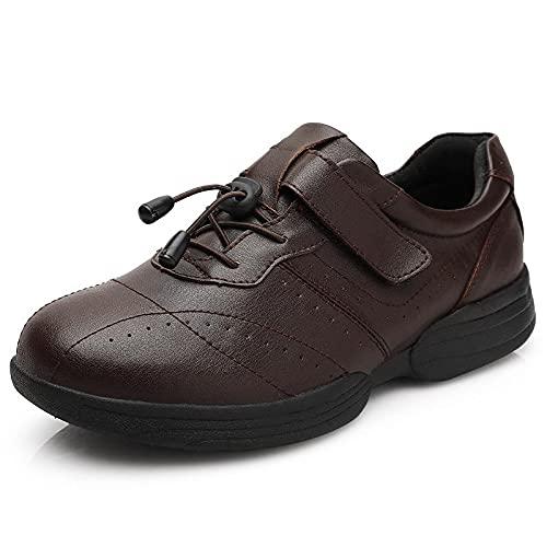 XRDSHY Zapatos para Diabéticos, Zapatos para La Casa, Artritis, Edema, Cómodos, Ligeros, para Caminar, Zapatillas con Colchón De Aire, Zapatos Unisex para Personas Mayores,Brown-40