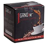 GanoOne Instant Black Coffee with Ganoderma - Reishi Mushroom Extract Breakfast Blend Sugar - Free 20 Single Serve Sachets (Pack of 1)