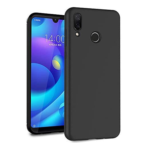 Funda Ferilinso para Xiaomi Redmi 7 PRO / Xiaomi Mi Play, funda de fibra de carbono Delgado delgado híbrido Defender Resistente a los arañazos Cubierta protectora de silicona (negro)