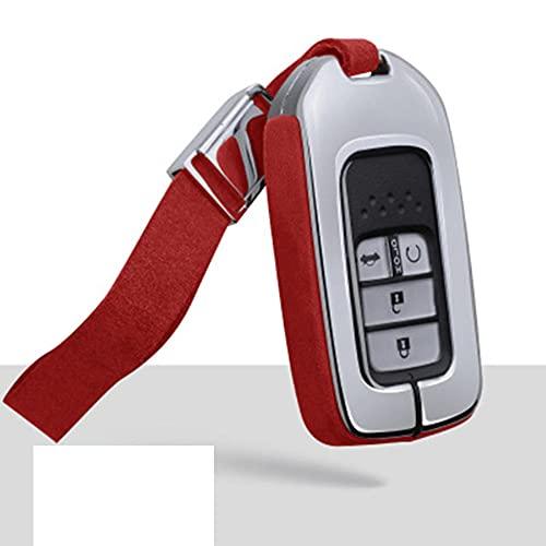 YHDNCG Cubierta de la llave del coche, resistente al desgaste de la aleación de cuero de la inteligencia de la llave del coche, piezas del coche, para Honda Accord 2015-2018