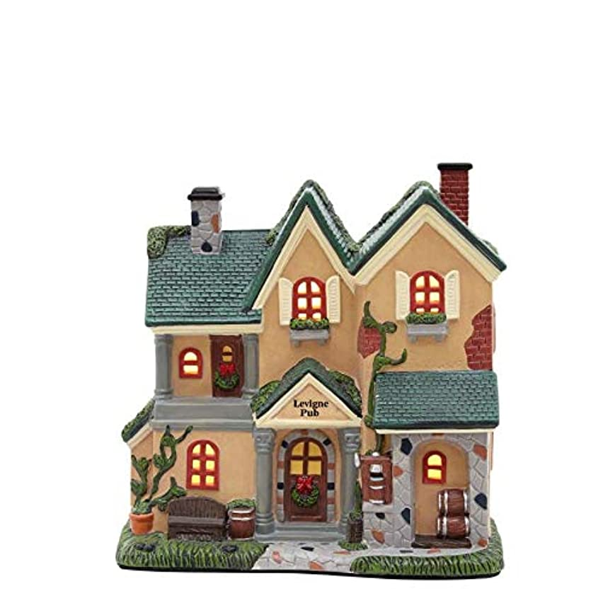 Carole towne Lighted Village Scene Levigne Pub Tabletop Decoration