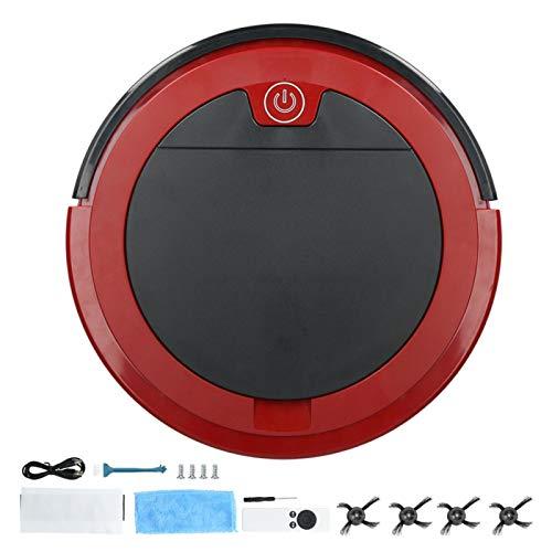 Cryfokt Robot Aspirapolvere, 1200 Pa Potente Aspirazione Intelligente Telecomando USB Ricaricabile Pavimento Spazzatrice Aspirapolvere Robot per Tappeti/Peli di Animali