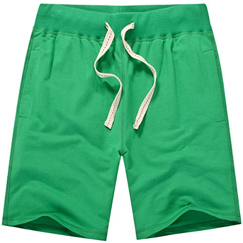 Amy Coulee Men's Casual Classic Sweat Short (M, Sea Green)