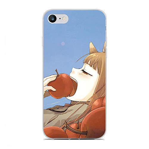 Easterm Transparent Soft Silicone Gel Edge Flexible Case Coque for Apple iPhone 6 Plus/6s Plus, Spice-Wolf Girl Wisewolf-Holo 4