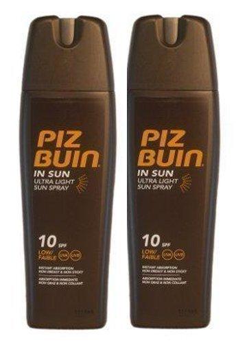 Piz Buin Ultra Light Sun Lotion Sprays Spf10 X 2 - 200ml Je