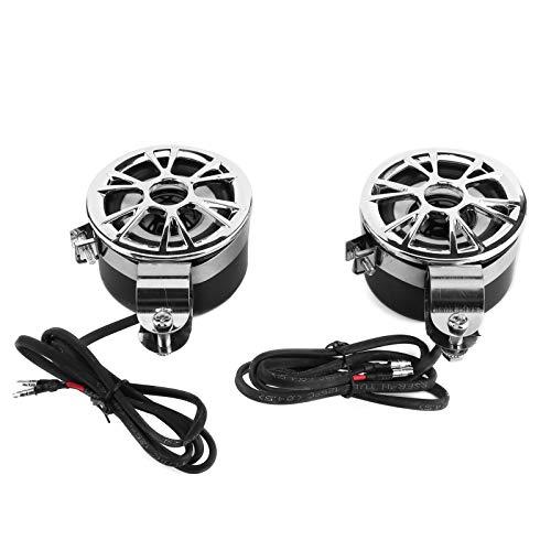 Yctze Sistemas de radio estéreo para motocicletas 2 piezas Sistema universal de...