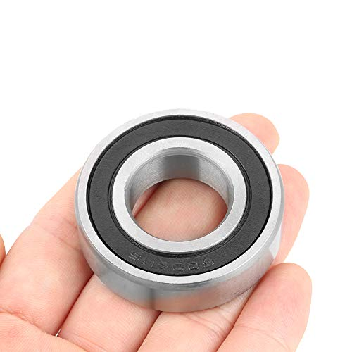10Pcs 6004-2RS1 Rodamiento Rodamientos de bolas de ranura profunda sellados de goma de 20 mm Rodamientos en miniatura (20x42x12 mm), para pequeños proyectos de eje/varilla de 20 mm