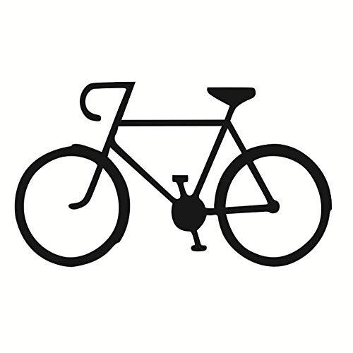 Vinilo Pvc Pegatina Bicicleta Pegatinas De Pared Sala De Estar Bicicleta Silueta Niños Habitación Decoración Para El Hogar 59X34Cm