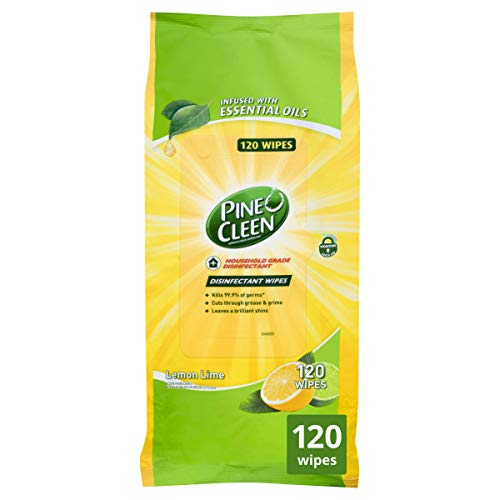 Pine O Cleen Disinfectant Surface Wipes, Lemon Lime Burst, 120 Wipes