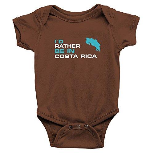Teeburon I'D Rather BE IN Costa Rica Body de bebé