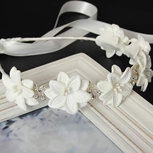 Diadema para novia, comunión, adorno para el pelo, corona de flores