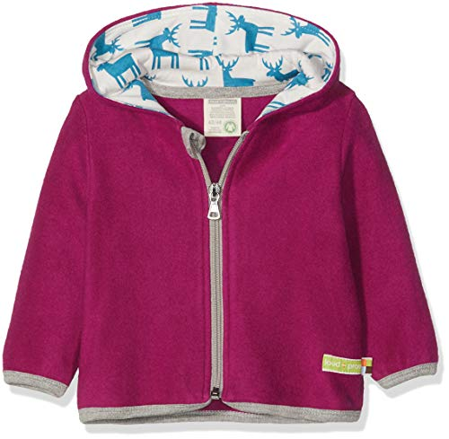 loud + proud Mädchen Jacke Fleece Sweatjacke, Violett (Orchid or), 104