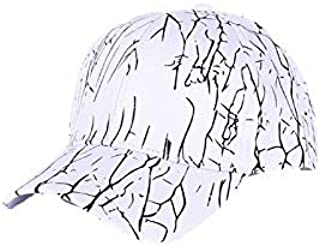 Hat Men and Women New Spring and Summer Letter Printing Fashion Fantastic Tide Shade Personality (Color : White, Size : Adjustable)
