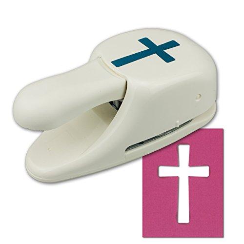 Artoz Papierstanzer - Kartenstanzer - Kreuz neutral, 50mm - Stanze-Locher zum Kartenbasteln für Kommunion Konfirmation Weihnachten Einladungen Hochzeit Taufe und vieles mehr