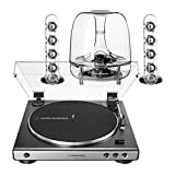 AudioTechnica AT-LP60XGM Fully Automatic Stereo 2-Speed Turntable System (Silver) with Harman...